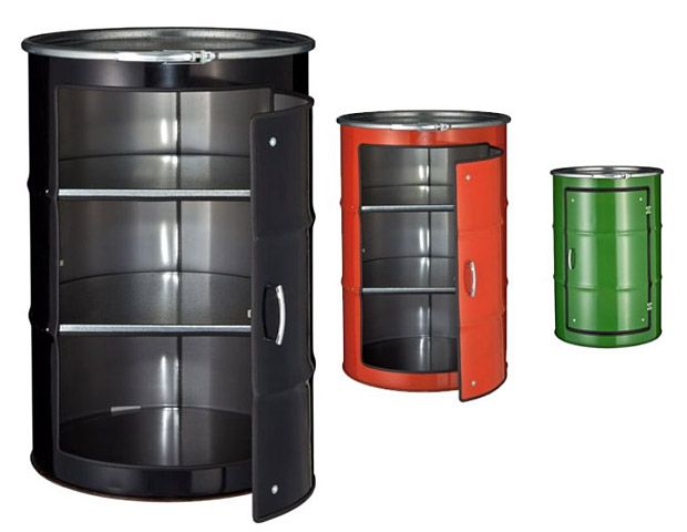 Oil Can Cabinets...cool...Wanted to do a can that said brain food.  But these are EXPENSIVE.