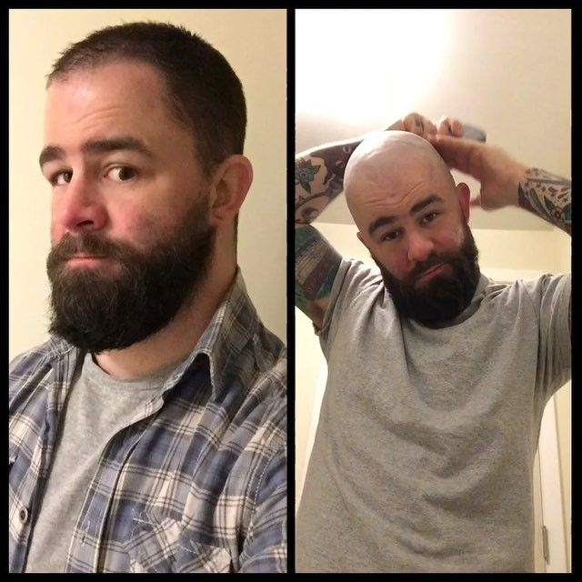 Got an early jump on St. Baldrick's! I'll be keeping my head shaved all March in addition to doing head shaves in the shop. To participate, simply make a head shave appointment with me and 100% of the cost plus tip will be donated to #stbaldricks. Or if you'd just like to donate, go to stbaldricks.org/fundraisers/handcrafted. #bravetheshave #shavedhead #bald #charity #chicago @beard4all #beard #barber #barberlife #barbershop #beforeandafter