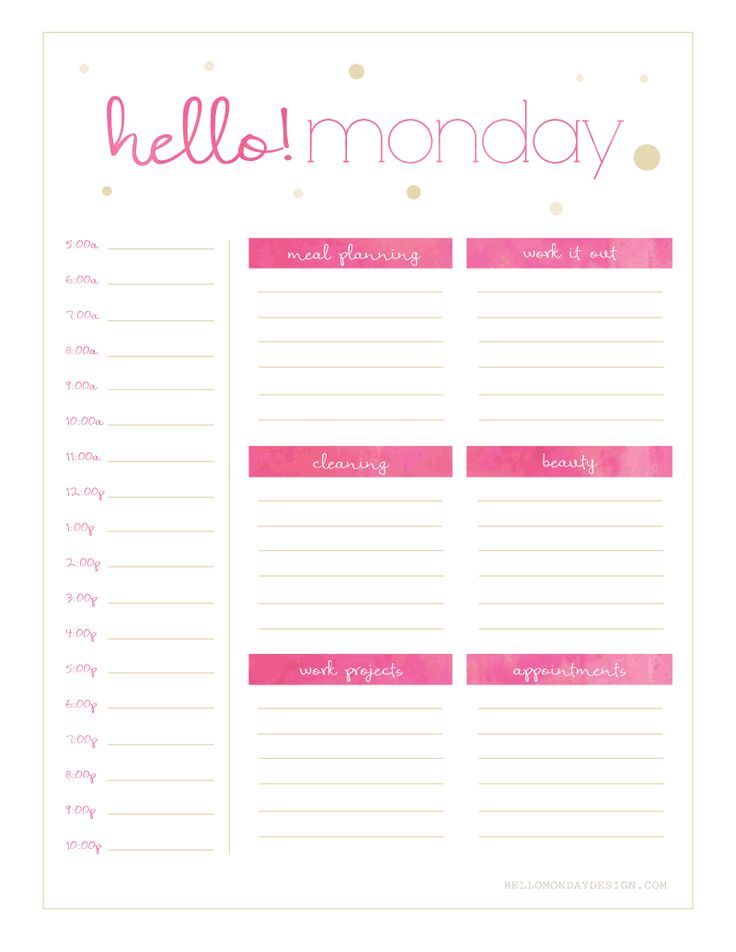 59 best images about Printable Weekly Calendars on
