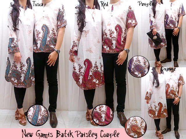 Baju Muslim Gamis Couple Batik Modern