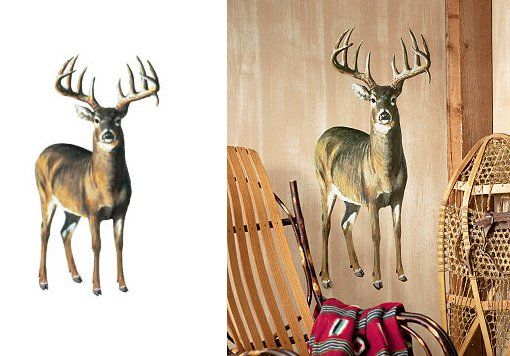 78 best images about deer wall decals on pinterest for Deer wallpaper mural