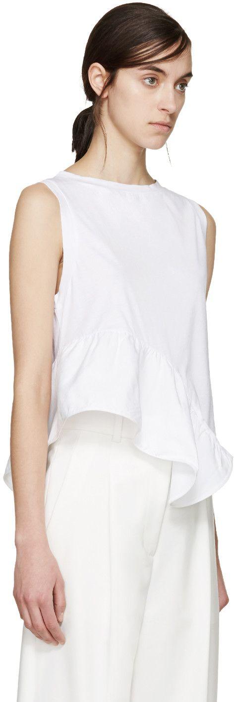 Stella McCartney - White Ruffled T-Shirt