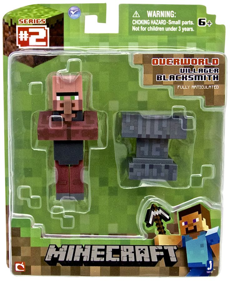 Minecraft Series 2 Blacksmith Villager With Accessory 3 Action
