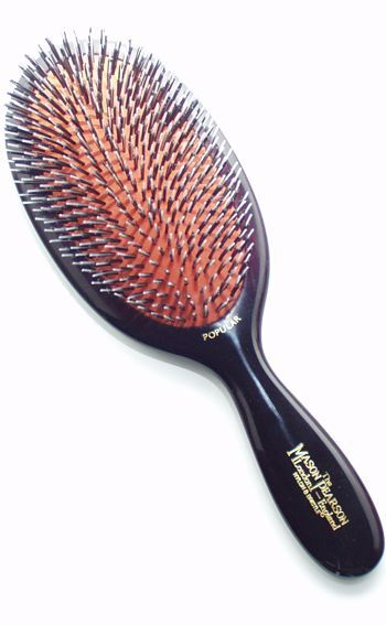 Best Beauty Tools for Curly Girls The Mason Pearson combination brush is awesome for natural hair and curly hair. Great curl definition! https://thepatranilaproject.com/best-beauty-tools-for-curly-girls/