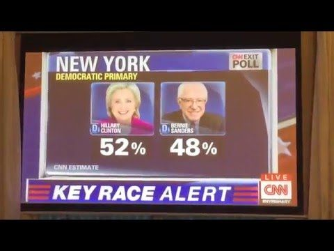 CNN Exit Poll Results for 2016 New York Democratic Primary Election - YouTube