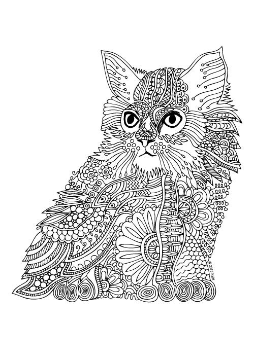 estate engagement rings Kittens and Butterflies  Coloring Book by Katerina Svozilova