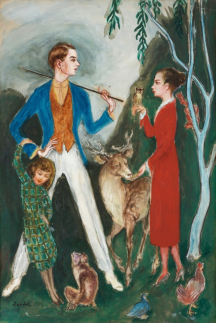 Nils von Dardel  1888-1943, Swedish- Young Man and Girl [1919]
