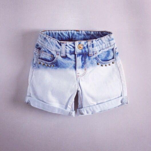 Acid wash dip dye shorts#denim#acid#girlsfashion#kidsfashion