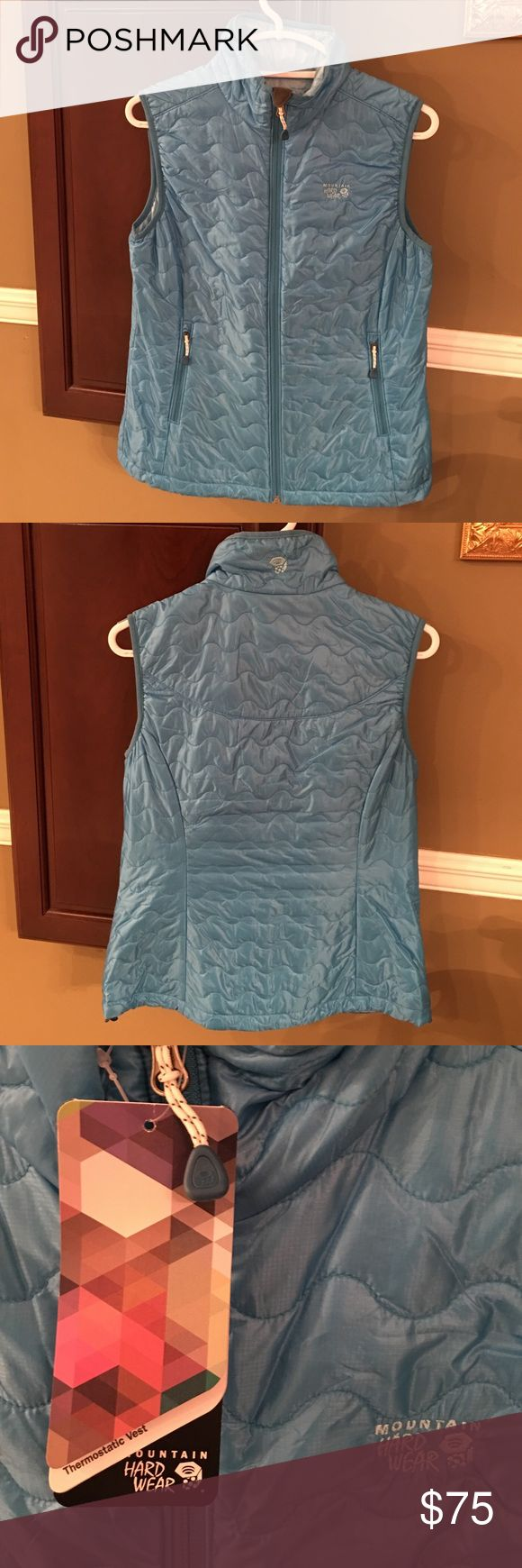 NWT Women's Mountain Hard Wear Blue Vest -Sz S Beautiful New Women's Mountain Hard Ware Thermostatic Vest in size Small. Orig. $130.  New with tags; no tears or stains. Mountain Hard Wear Jackets & Coats Vests