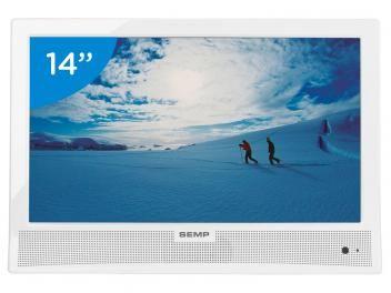 """DE R$ 599,00 POR APENAS  R$ 371,07 TV LED 14"""" Semp Toshiba LE1473(B)W - Conversor Digital 1 HDMI 1 USB"""