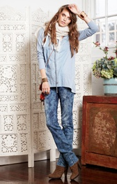 Chambray or Simple shirt - Loobies Lace up $225 LS376