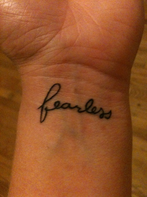 This was inspired by Taylor Swift and her entire Fearless album. It's actually my second Taylor Swift tattoo, and I had both done by Miles Foxworthy at Yer Cheat'n Heart in Hermosa Beach, CA.  http://becauseeverythinghaschanged.tumblr.com/