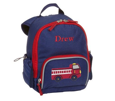 Fairfax Navy Backpacks   Pottery Barn Kids --> for Christopher's big brother gift