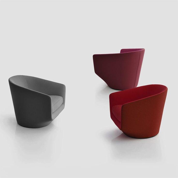 U Turn swivel armchair design Niels Bendtsen for Bensen