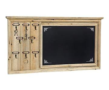 Pizarra enmarcada en madera envejecida - 60x40 cm