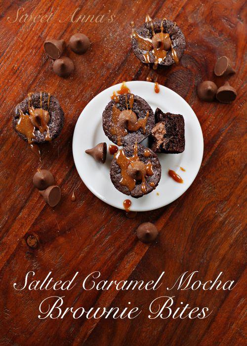 salted caramel mocha brownie bites: Mocha Brownies, Caramel Kiss Mocha, Brownies Bites, Baking Recipes, Salted Caramel, Anna Recipes, Cakes Cupcakes Brownies, Brownies Blondi Bar, Mocha Recipes