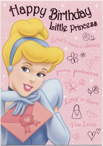 Disney Birthday Cards Birthday Greeting Cards Disney Princess
