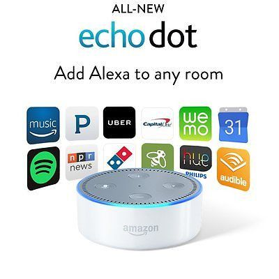 Amazon Echo Dot 2nd Generation 2016 w/ Alexa Voice Media Device - White