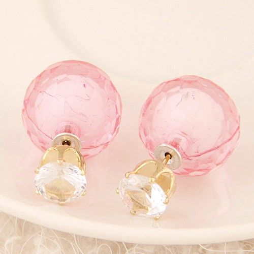 candy colored flash stud earrings