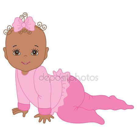 Resultado de imagen para dibujos de bebes niñas gateando