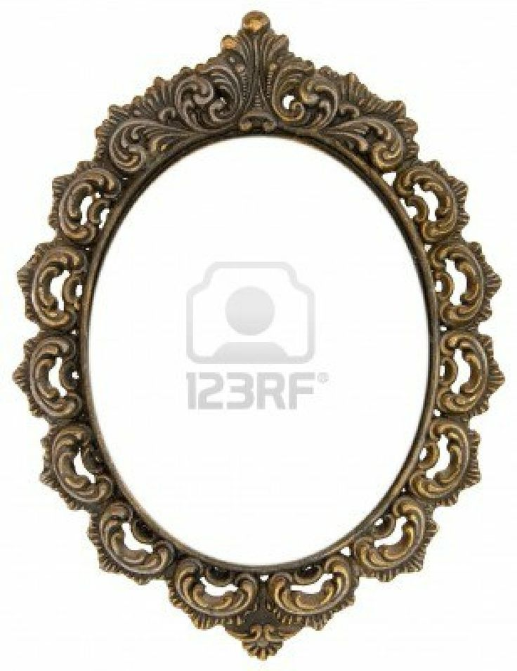 Ornate antique oval frame Stock Photo