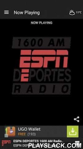 ESPN DEPORTES Radio Fresno  Android App - playslack.com ,  ESPN DEPORTES 1600 AM Radio Fresno ESPN Deportes Radio 1600 AM Fresno