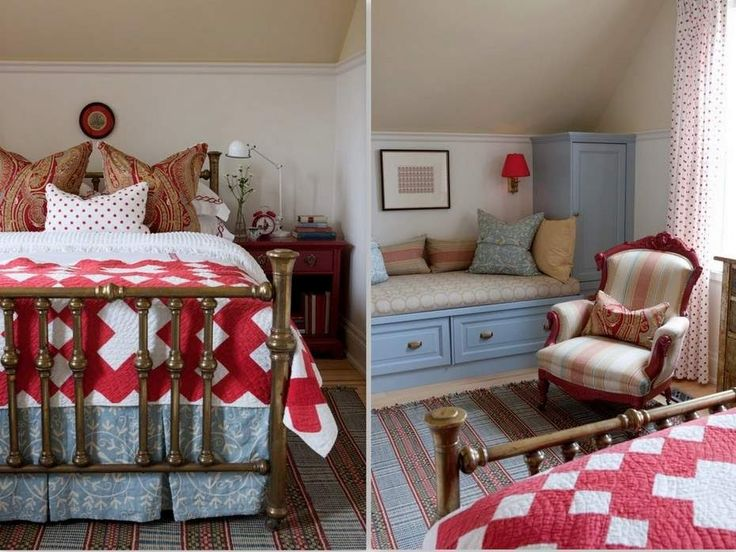 Sarah's farmhouse - love her use of pattern & color!