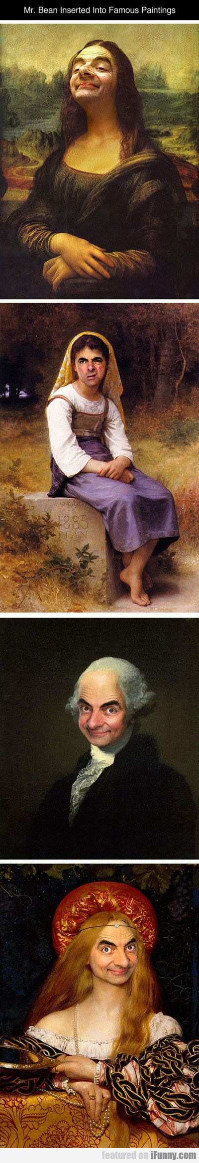Mr. Bean Inserted Into Famous Paintings...