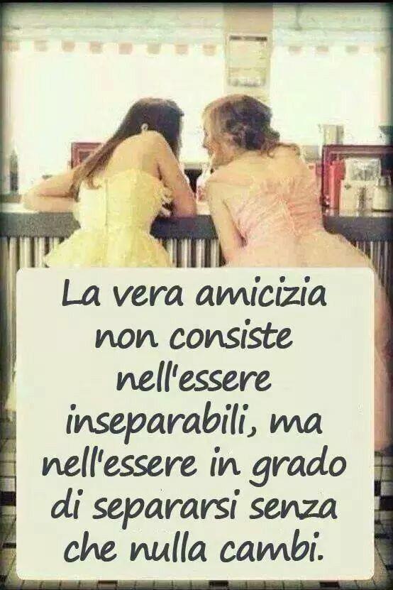 Amicizia e amore non vuol dire essere inseparabili