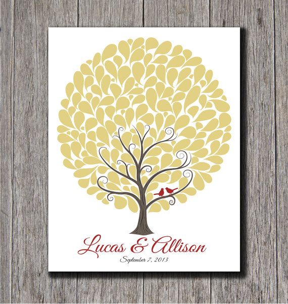 Wedding Guest Tree With 145 Signature Shapes  by MadeForKeepsShop, $38.00