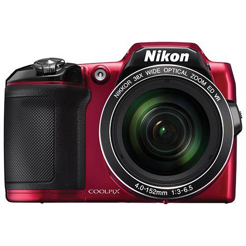 Nikon COOLPIX L840 Wi-Fi 16MP 38x Optical Zoom Digital Camera - Red
