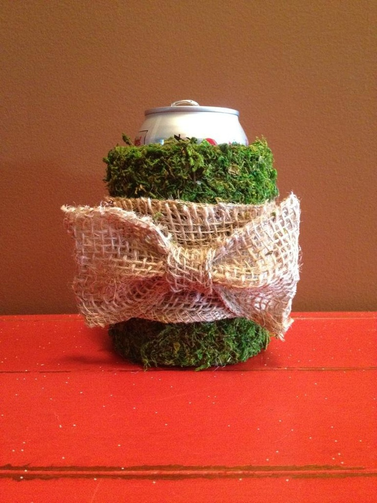 This is right  up your alley @Drew Cunningham  Moss covered koozie with burlap bow by DixieTailored on Etsy, $10.00: Moss Covers, Alley Drew, Drew Cunningham, Burlap Bows, Covers Koozie, Cunningham Moss, Etsy Loves
