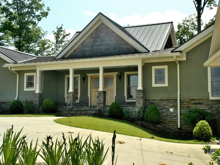 House Colors Metal Roof Combination Exterior Home Ideas