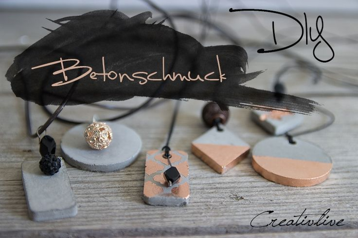 creativLIVE: DIY Betonschmuck Lust darauf mit Schmuck Geld zu verdienen? www.silandu.de