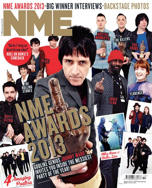 NME Magazine cover, NME Awards 2013, March 9th 2013