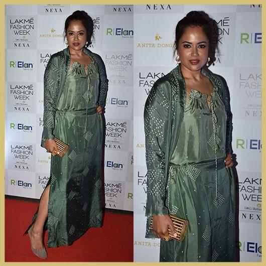 Sameera Reddy, Celeb Spotting on Day 1, Lakme Fashion Week Summer Resort 2018, Appearances
