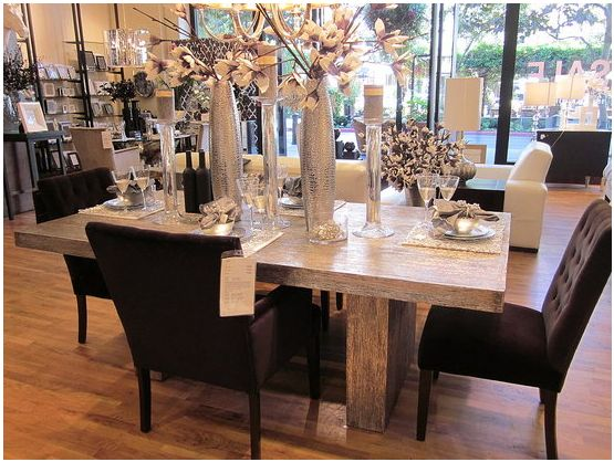 Good Z Gallerie Timber Dining Table.