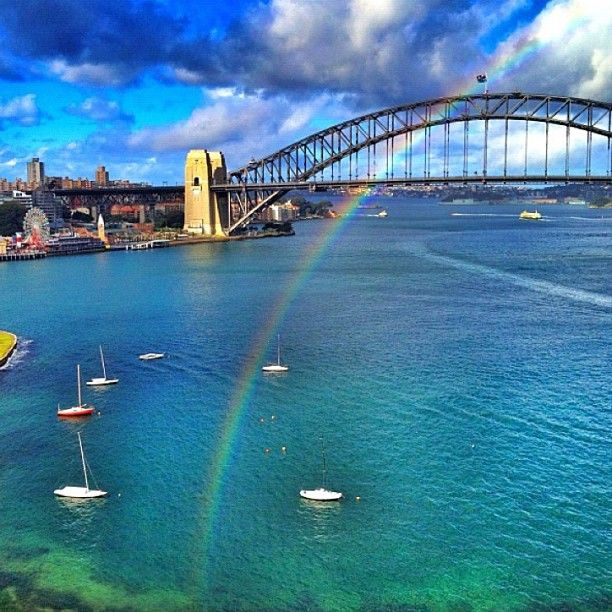"""@seeaustralia's photo: """"Somewhere over the rainbow.... @jo1foster always manages to capture the best rainbow shots!"""""""