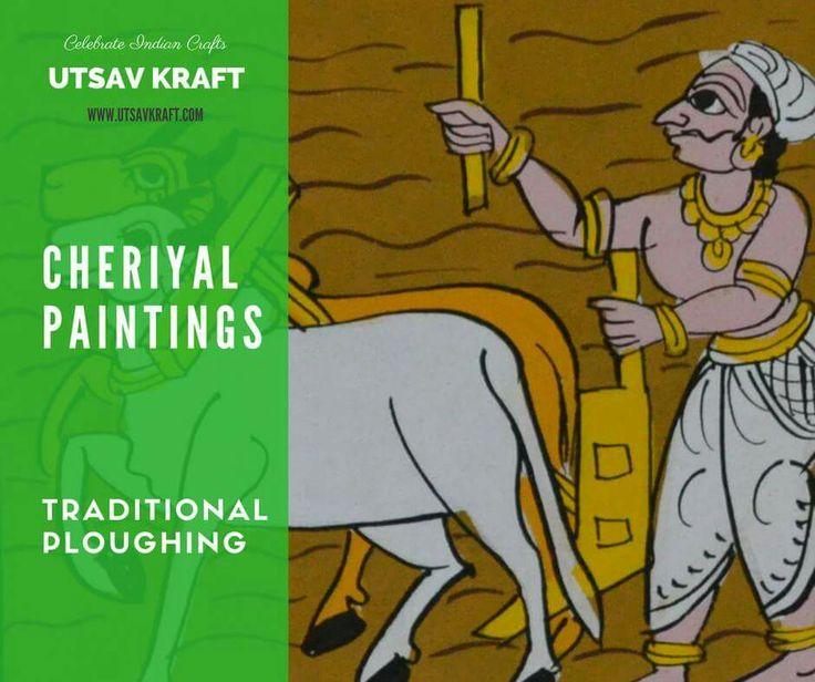 Cheriyal Painting is a stylized version of the Nakash Art. #cheriyalpainting #nakashart