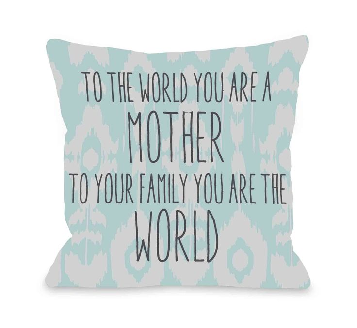 Good Hosking To The World Mother Ikat Throw Pillow