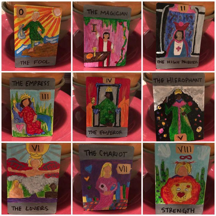 Made my own tarot cards minor arcana major arcana tarot