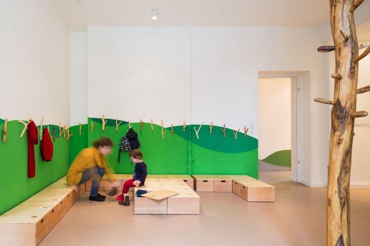 https://www.facebook.com/CONTEMPORARY.KID Baukind have designed a kindergarten/day care for Kita Drachenreiter in Berlin, Germany.  Design: Baukind Photography: Marcus Ebener