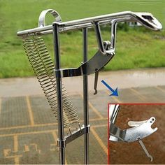 Specifications: Name : double spring sea fishing rod stand Material : stainless steel Weigh t: 430g Dimension : 43cm * 6cm Max tension : 50kg Features: This bracket is used for pulling up the rod auto