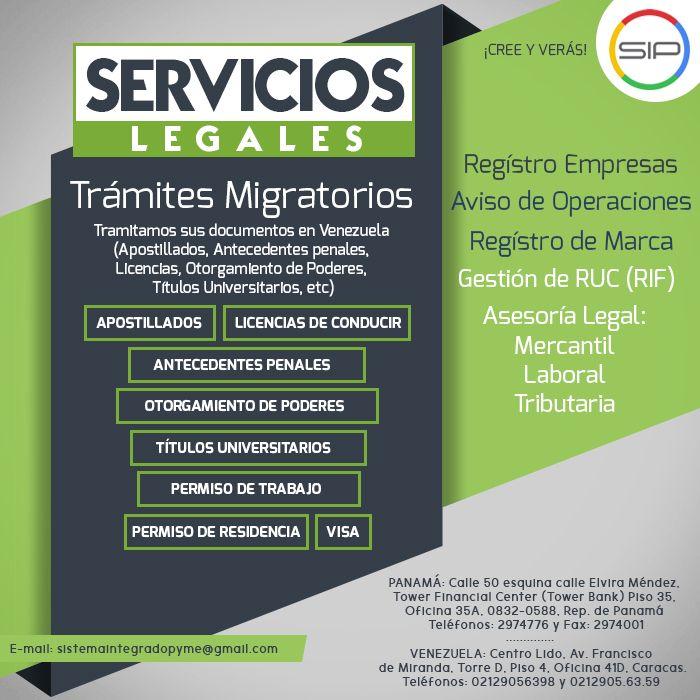 Todo en Servicios Legales, desde trámites migratorios hasta registro de empresa a precios ¡DE IMPACTO!   #ServiciosLegales #RegistroDeMarca #RegistroDeEmpresas #Marca #Migración #PermisoLaboral #PermisoDeResidencia #Residencia #Legalidad #Ley #Viajeros #Turismo #Enterprise