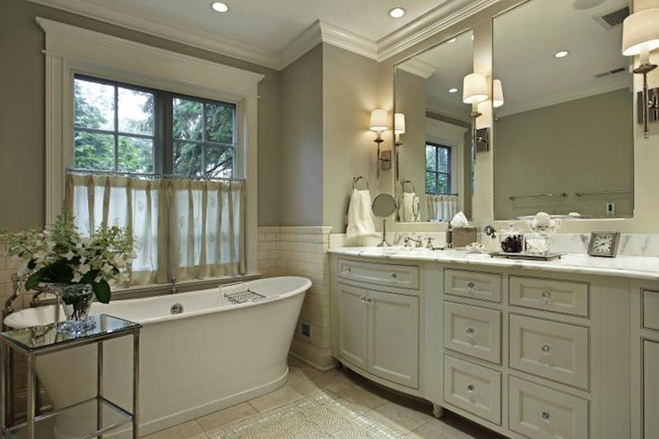 Suzie: Artsaics Tiles & Stone - Amazing traditional bathroom with gray walls paint color, ...