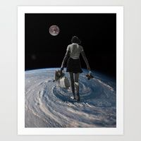 Art Print featuring Worlds Apart by TRASH RIOT