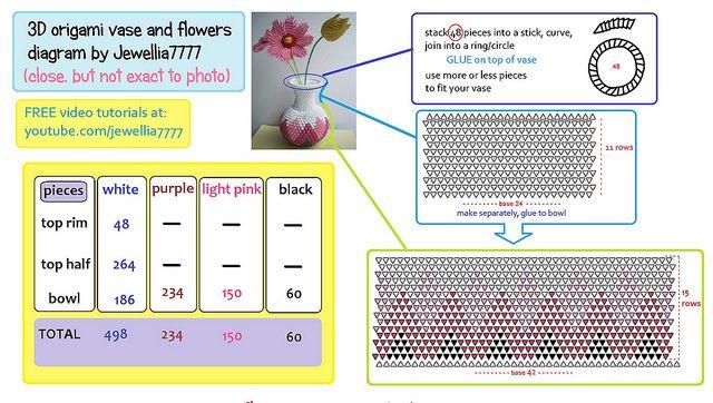 71 best images about 3d origami patronen on pinterest