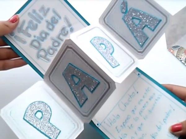 Tarjetas para el día del padre FÁCILES | Paso a Paso | Craft Work, Tutorial, Holidays And Events, Ideas Para, Fathers Day, Origami, Projects To Try, Diy Crafts, Scrapbook