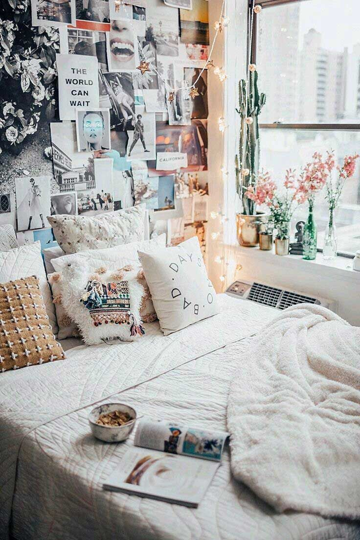 35 Cute Apartment Bedroom Room Decor Ideas Dorm Room Diy Cute Dorm Rooms Dorm Room Decor