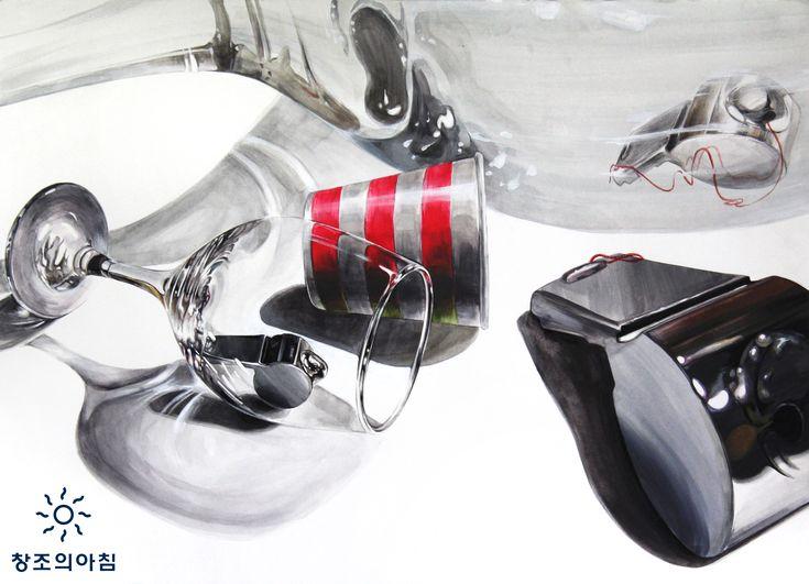 기초디자인 건국대 기디 건대 입시미술 기초디자인 끈 호루라기 종이컵 와인잔 일러스트 디자인